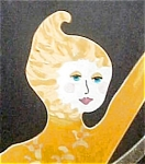 Girl with Hoop - Metal Sculpture Signed