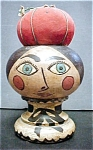 Click here to enlarge image and see more about item AA234: Vintage Wooden Head with Pincushion