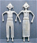 Click to view larger image of South Pacific Metal Couple Wall Hangings (Image1)
