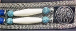 Click here to enlarge image and see more about item AA255: Vintage Silver-Toned Mesh Belt W/Beads