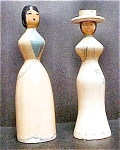 Click here to enlarge image and see more about item AA259: Pair Vintage Victorian Style Figures