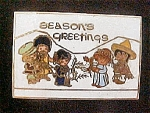 Click here to enlarge image and see more about item AA344: Seasons Greetings Pin