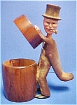 Click here to enlarge image and see more about item AA364: Vintage Wooden Figural Cigarette Box