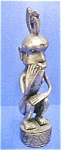 Click here to enlarge image and see more about item AA371: Silver/Nickel Plated Bronze Figure - Timor