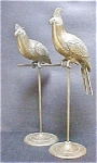 Vintage Pair Life Size Partridges on Stands