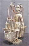 Click to view larger image of Asian, Indian Vendor Silver-Plated Figure (Image1)