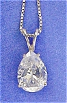 Click to view larger image of Pear Shaped Drop Pendant w/SS Box Chain (Image1)