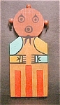 Click here to enlarge image and see more about item AA402: Wooden Flat Mudhead Wall Kachina - Hopi