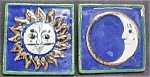 Sun/Moon Art Tiles - Handmade in Mexico