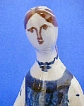 Click here to enlarge image and see more about item AA416: Vintage European Pottery Figure - Signed
