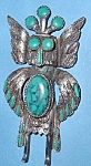Click here to enlarge image and see more about item AA437:  Native  American  Style Turquois Bird Figure