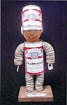 Click here to enlarge image and see more about item AA449: Vintage Unique Handmade Budweiser Figure