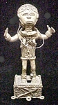 Click here to enlarge image and see more about item AA455: Cast Brass African Female Figure