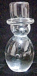 Art Glass Snowman Paperweight