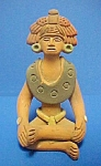 Click here to enlarge image and see more about item AA483: PreColumbian Style Figure - Signed/Handmade