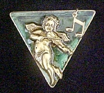 Click here to enlarge image and see more about item AA490: Cupid Playing Violin Pin