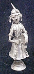 Siam  Figure - Silver-Toned Metal