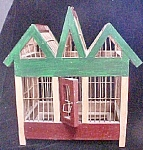 Click here to enlarge image and see more about item AA515: Wooden Bird House Style Cage - Philippines