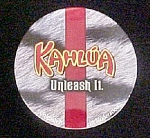Click here to enlarge image and see more about item AA532: Set 4 Kahlua Coasters In Kahlua Tin