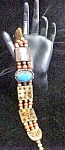 Click here to enlarge image and see more about item AA535: Vintage Native American Choker Necklace