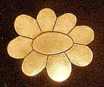 Click to view larger image of Vintage Metal Flower Belt Buckle (Image1)