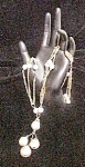 Click to view larger image of Vintage Faux Pearl Necklace w/Three Chains (Image1)