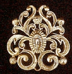 Click to view larger image of Vintage Floral Motif Style Pin (Image1)