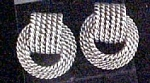 Click to view larger image of Textured Knot Earrings For Pierced Ears (Image1)