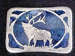 Click to view larger image of Vintage Stag With Inlay Western Belt Buckle (Image1)
