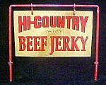 Click here to enlarge image and see more about item AA549: Hi-Country Beef Jerky Advertisement Sign
