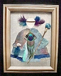 Click here to enlarge image and see more about item AA564: Mixed Media Art - Native American Theme