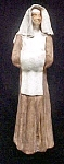 Click here to enlarge image and see more about item AA573: Columbian Folk Art - Handmade Nun Figure