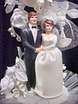 Click to view larger image of Vintage Wedding Cake Topper - Traditional (Image1)