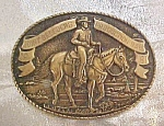 Joint Breeders Brass Belt Buckle - 1981