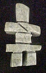 Click here to enlarge image and see more about item AA646: Inukshuk by Johnny Nooveya - Signed and Dated