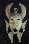 Click here to enlarge image and see more about item AA654: Metal Sand Mold Figural Mask - African