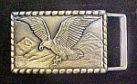 Click here to enlarge image and see more about item AA660: Vintage Brass Flying Eagle Belt Buckle