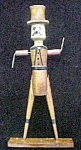 Click to view larger image of Wood Folk Art Man w/Top Hat (Image1)
