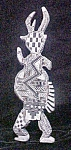 Click to view larger image of Native American Stone Carved Horned Figure (Image1)