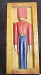 Click here to enlarge image and see more about item AA700: Vintage Folk Art Wood Carved European Soldier