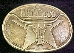 Click to view larger image of Marlboro Solid Brass Advertising Belt Buckle (Image1)