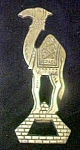 Click here to enlarge image and see more about item AA736: Vintage Metal Bottle Opener - Camel Shaped