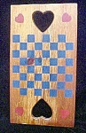 Click here to enlarge image and see more about item AA737: Vintage Wooden Checkers Game Board