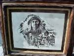 Click here to enlarge image and see more about item AA833: Legend of Montana Etching - Signed /Numbered