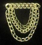 Click to view larger image of Striking Gold-Toned Drop Chain and Bar Pin (Image2)