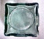 Click to view larger image of Chunky Art Glass Candle Holder w/Angel Design (Image4)