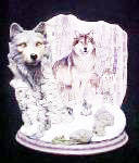 Click to view larger image of Wolves - Silent Watch - Guardians of Forest (Image1)