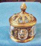 Click to view larger image of Unusual Glass/Brass Vanity Box - India (Image2)