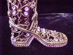 Click to view larger image of Be-Jeweled Boot w/Glass Vase (Image5)