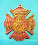 Click here to enlarge image and see more about item AAA1105: Fireman Fire Fighter Cast Iron Sign